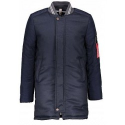 Bellaire B707-4209-210 Long Bomber Jacket Navy Blazer