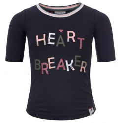 LOOXS 811-5426-750 T-SHIRT HEART BREAKER ANTRACITE