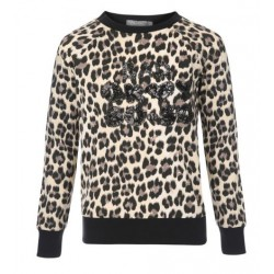 GEISHA 83573K-720 SWEATER SAND/BLACK TIGER