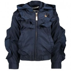 LE CHIC C811-5204-190 BOMBER WITH RUFFLES BLUE NAVY