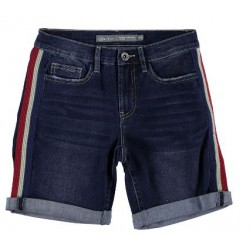 GEISHA 91017K-10-880 SHORT DARK BLUE USED DENIM