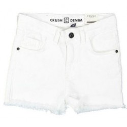 CRUSH 11920506-0900 DAISY DENIM SHORT WHITE