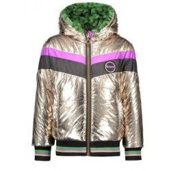 B.NOSY Y907-5204-510 REVERSIBLE JACKET WITH FUR CHAMPAGNE