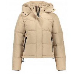 FRANKIE & LIBERTY FL20701 PREPPY PUFFER COAT DARK CREAM