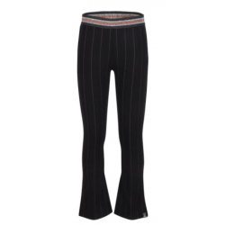 INDIAN BLUE JEANS IBG22-2251-118 STRIPED FLARED PANTS BLACK