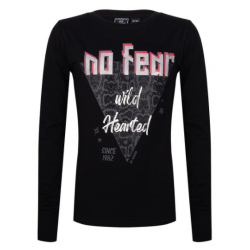 INDIAN BLUE JEANS IBG22-3034-999 LONGSLEEVE NO FEAR BLACK