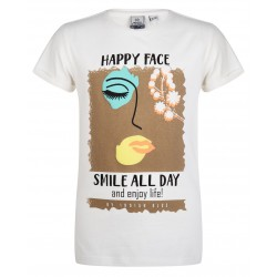 INDIAN BLUE JEANS IBG21-3140-701 Shirt Happy Face
