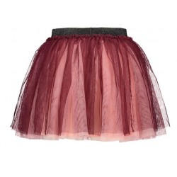 B.NOSY Y108-5732-264 2 LAYER SKIRT MAROON RED